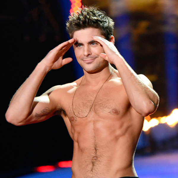 Zac Efron, MTV Movie Awards, Shirtless