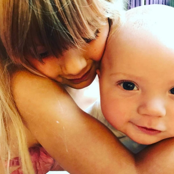 Pink's Daughter Willow Cuddles Up To Her Baby Brother Jameson