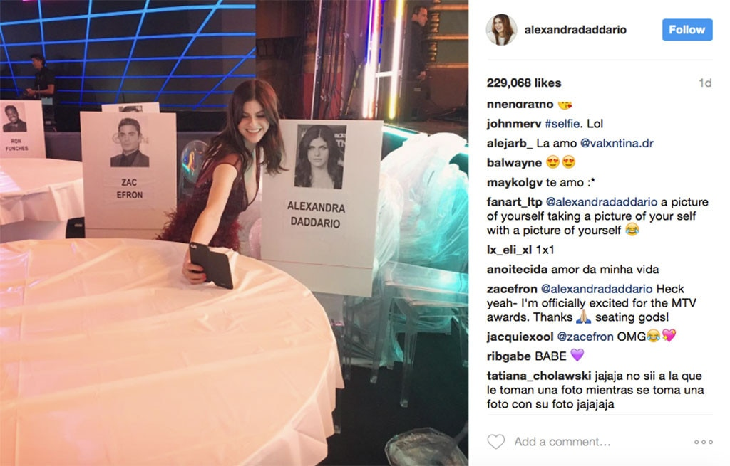 Alexandra Daddario Instagram post on 7 May 2017
