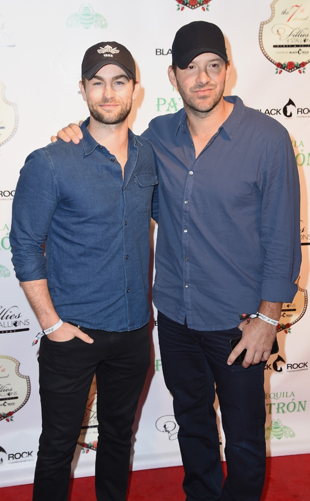 Chace Crawford & Tony Romo from Kentucky Derby 2017: Star ...