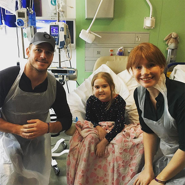 Chris Pratt, Bryce Dallas Howard, Great Ormond Street Hospital