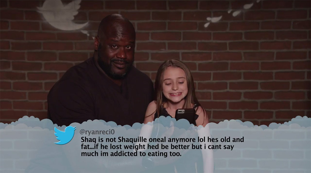 Shaquille O'Neal from Celebrity Mean Tweets From Jimmy ...