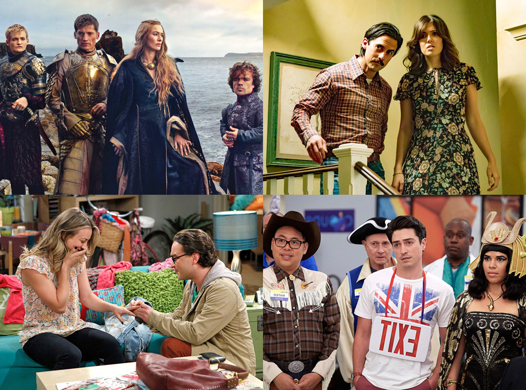 Game of Thrones, This is Us, Big Bang Theory, Superstore