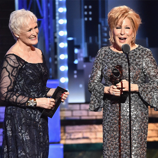 Glenn Close, Bette Midler, 2017 Tony Awards