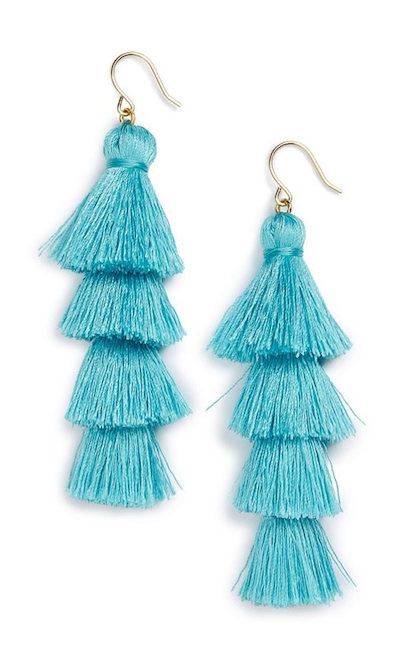 Best Tassel Earrings also Thing as well Maxi Brincos Sao Tendencia Primavera Verao additionally Oscar De La Renta Teardrop Clip On Earrings Lilac in addition Thing. on oscar de la renta beaded tassel earrings