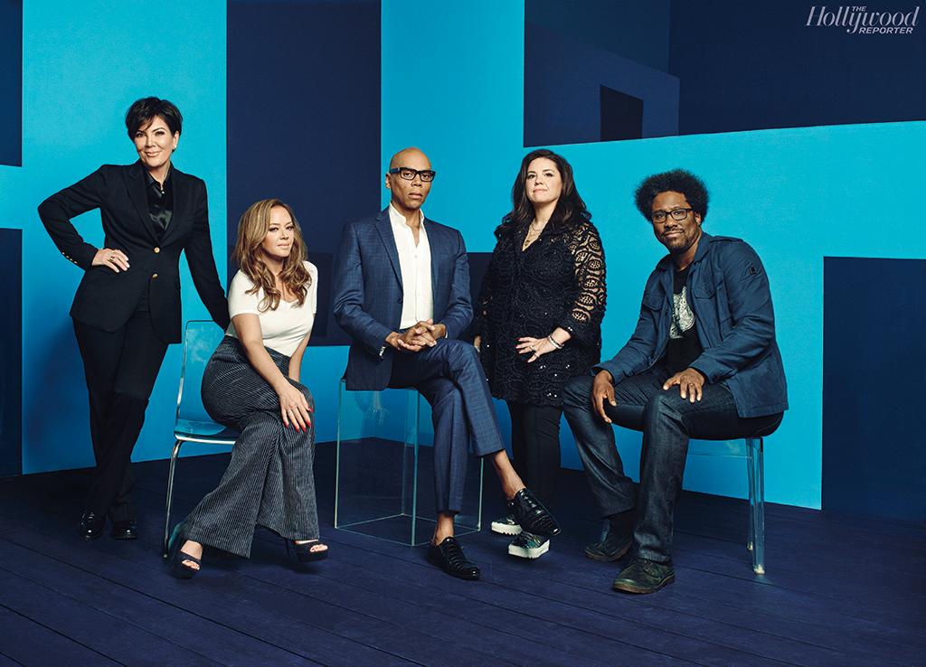 Kris Jenner, RuPaul, Leah Remini, Kamau Bell and SallyAnn Salsano