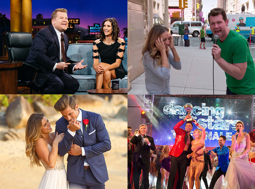 Best Reality or Talk Show, Late Late Show, Billy on the Street, Dancing with the Stars, The Bachelorette, TV scoop awards