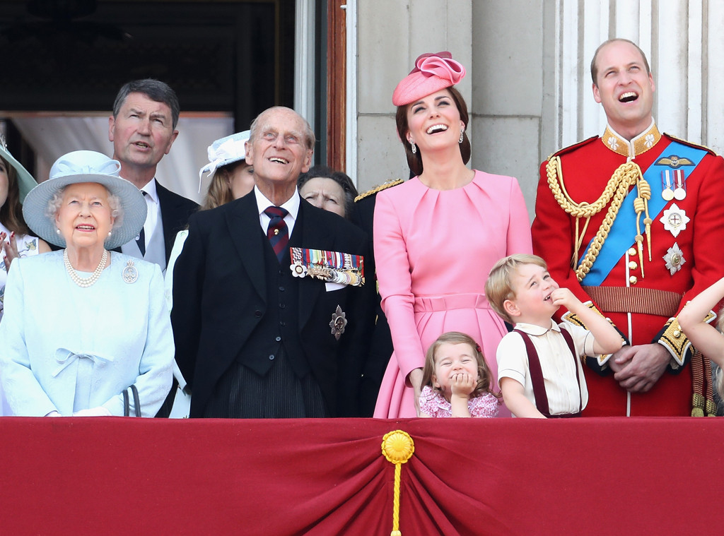 Kate Middleton, Princess Charlotte, Prince George, Prince William, Trooping the Colour 2017,  Queen Elizabeth