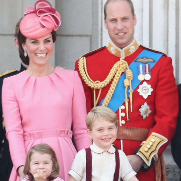 Kate Middleton and Family at Trooping the Colour 2017