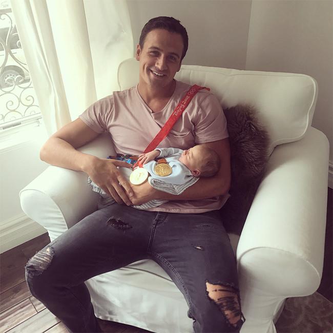 Ryan Lochte, Kayla Rae Reid, Son, Baby, Caiden Zane, Father's Day 2017