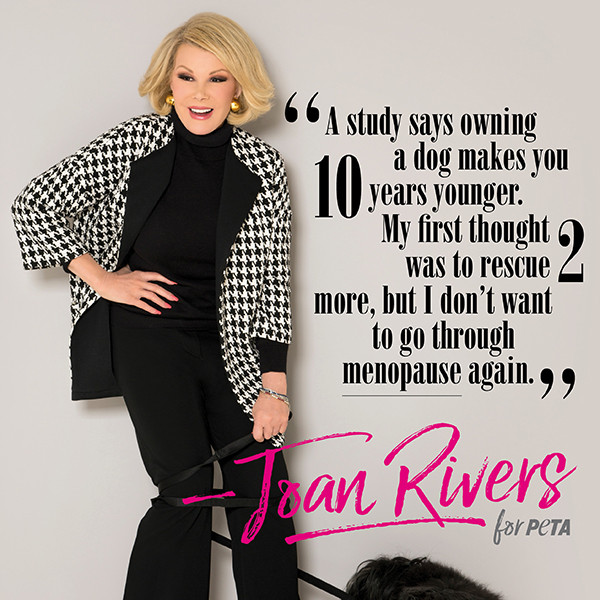 Joan Rivers, PETA