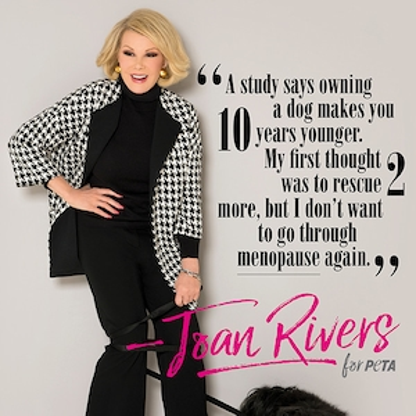 Joan Rivers, PETA
