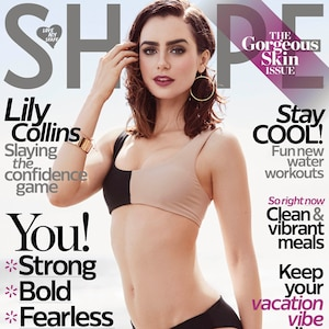 Lily Collins, Shape Magazine, Exclusive