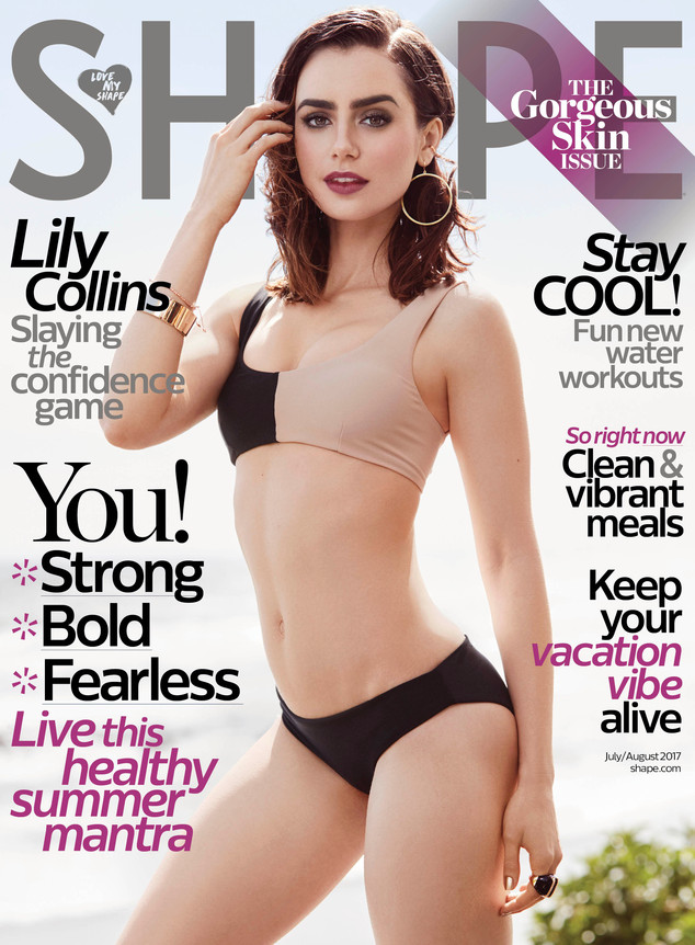 Lily Collins, Shape Magazine, Exclusive