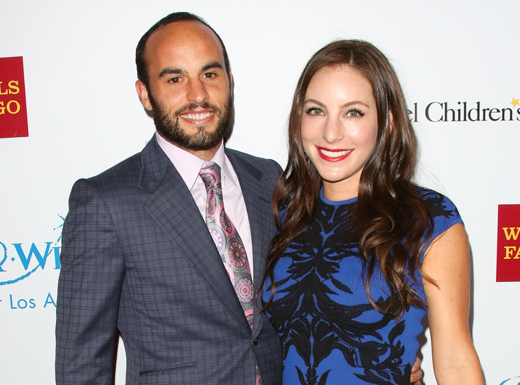 Landon Donovan and his second wife Hannah Bartell