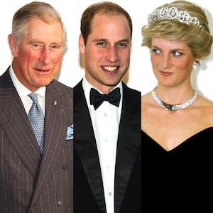 Prince Charles, Prince William, Princess Diana