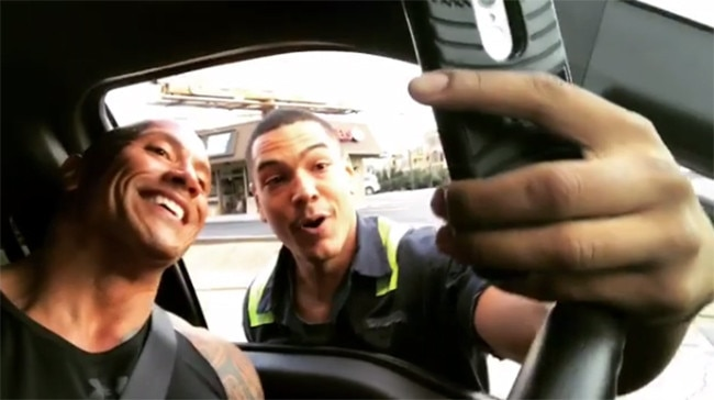 Dwayne Johnson, Selfie, Fan