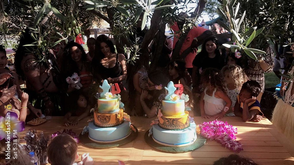 North West and Penelope Disick Have Moana Themed Birthday Bash