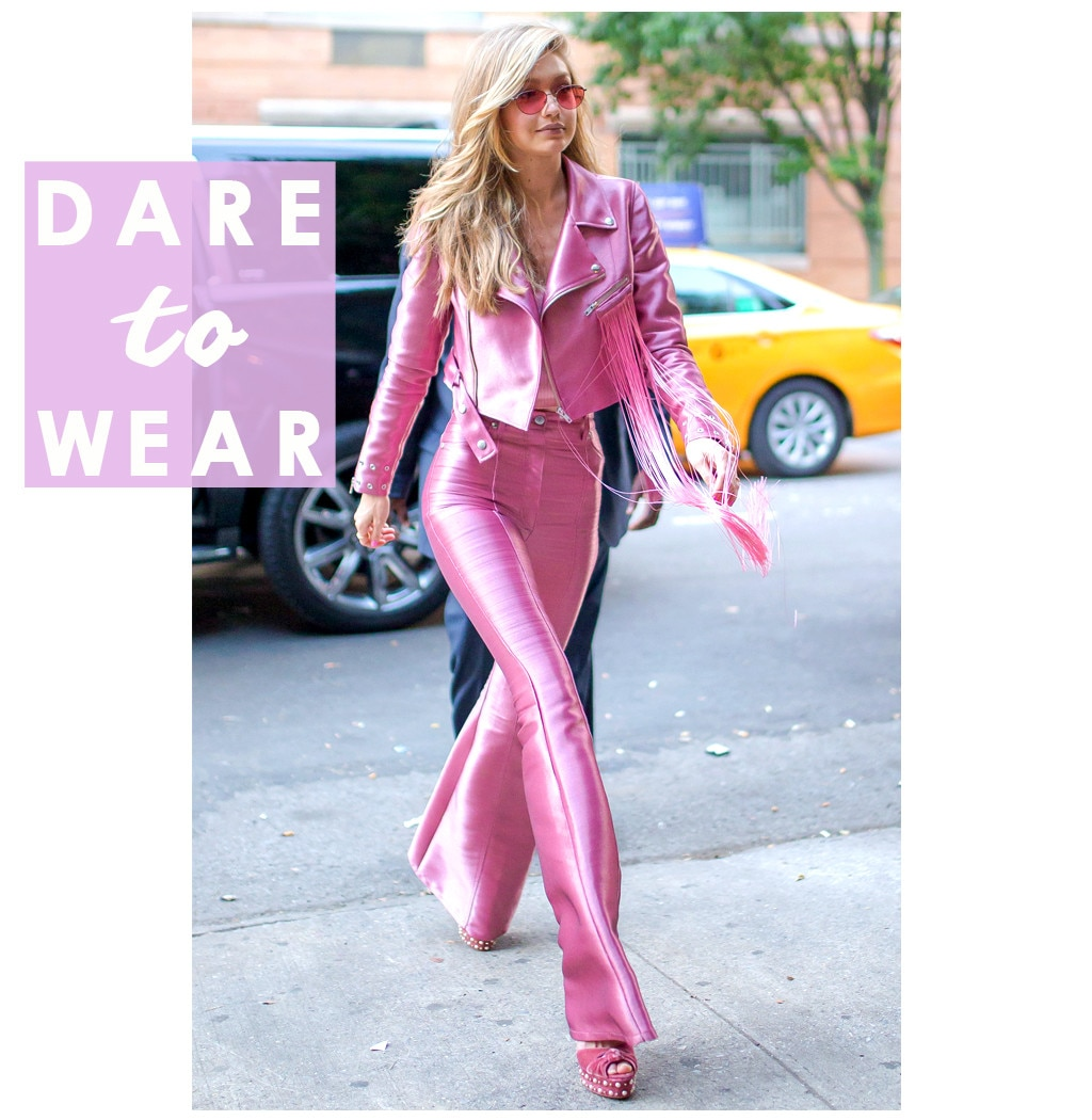 Gigi Hadid Wears Head-to-Toe Millennial Pink