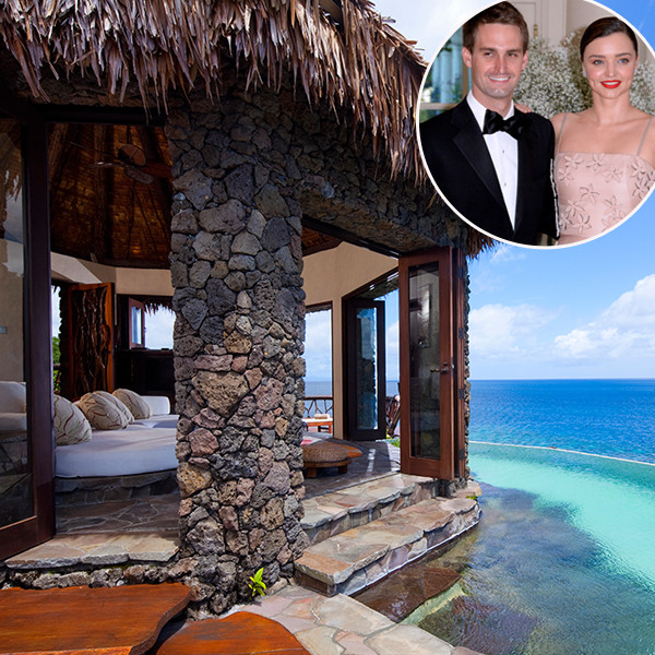 Evan Spiegel, Miranda Kerr, Laucala, Honeymoon