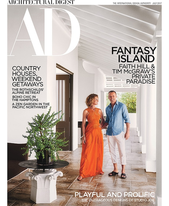 Faith Hill, Tim McGraw, Architectural Digest