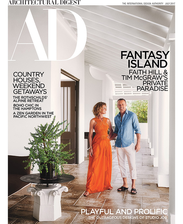 Faith Hill, Tim McGraw, Architectural Digest