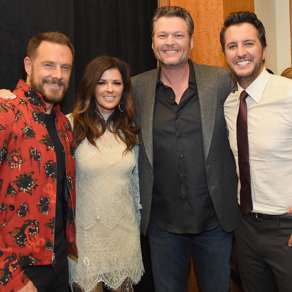 Jimi Westbrook, Karen Fairchild, Blake Shelton, Luke Bryan, 2017 CMT Music awards
