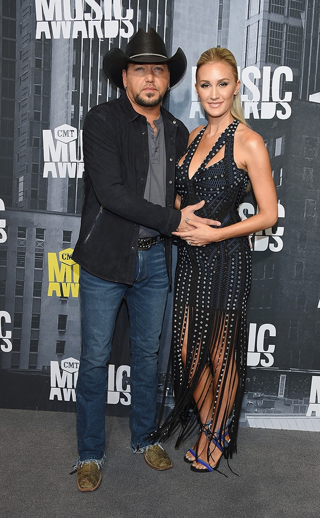 Jason Aldean, Brittany Kerr, 2017 CMT Music Awards, Couples