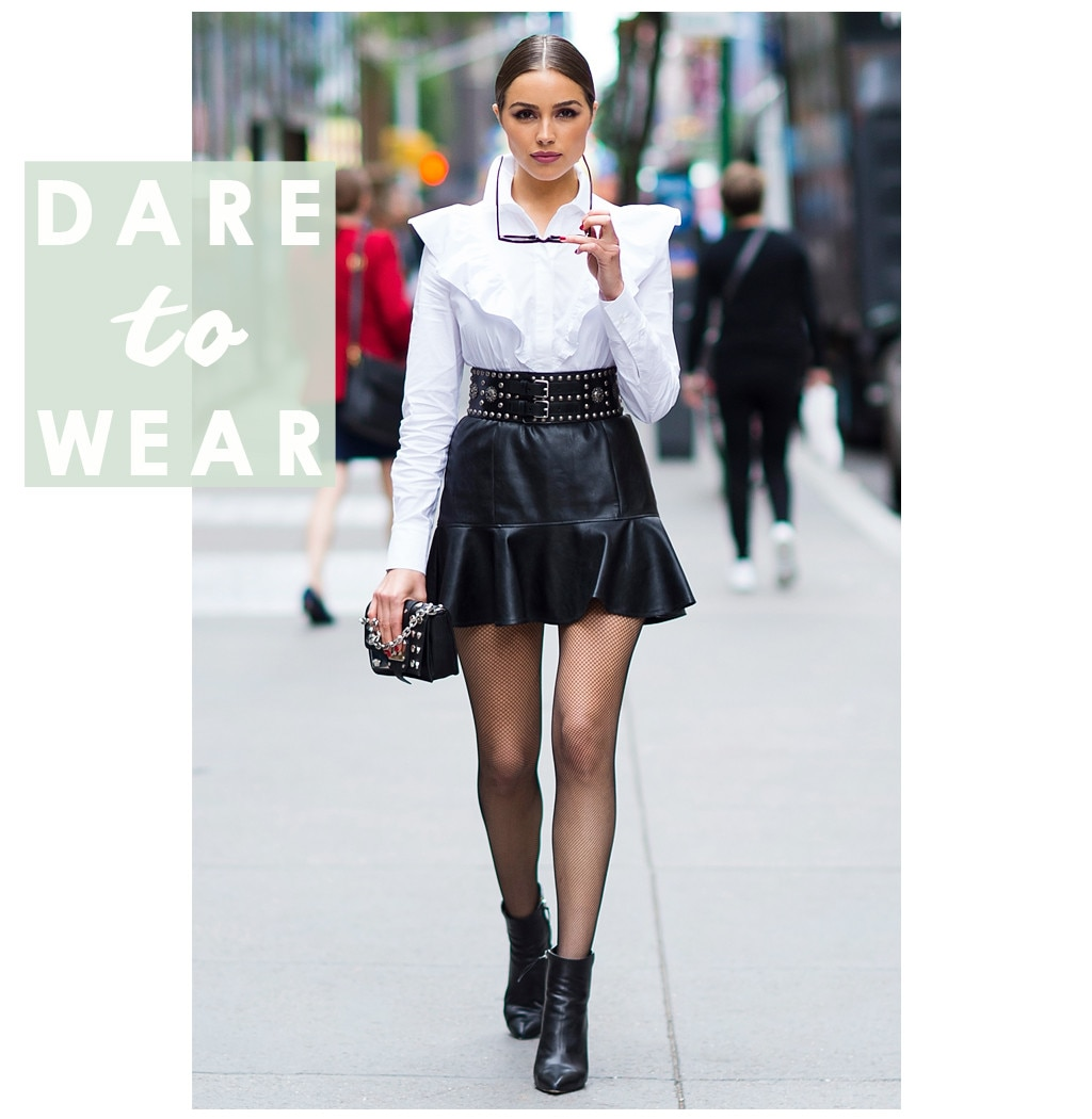 Olivia Culpo's Leather Skirt Has An Unexpected Hemline