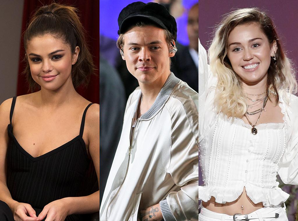 Teen Choice Awards nominees, Selena Gomez, Harry Styles, Miley Cyrus