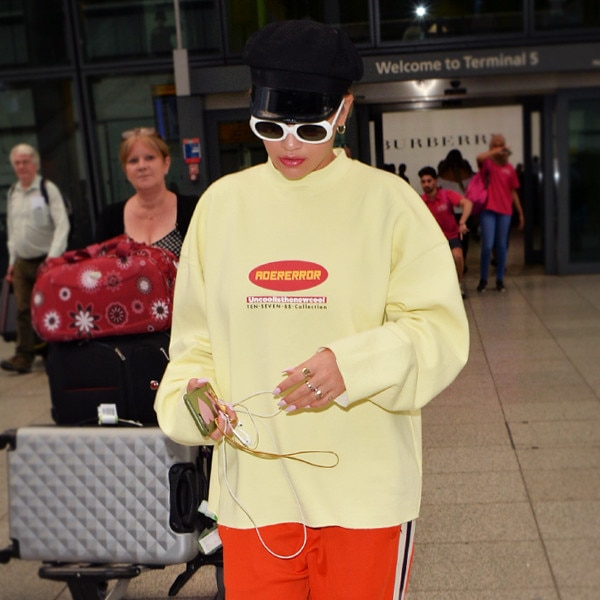 Dare to Wear: Rita Ora's Orange Pants