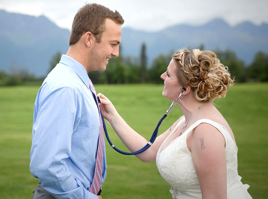 Bride meets late son's heart recipient