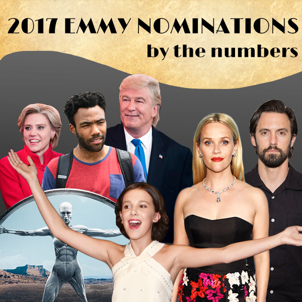 2017 Emmy Nominations By The Numbers