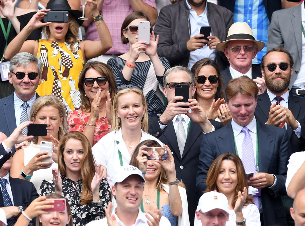 Michael Middleton,Carole Middleton, Pippa Middleton, James Middleton, Wimbledon