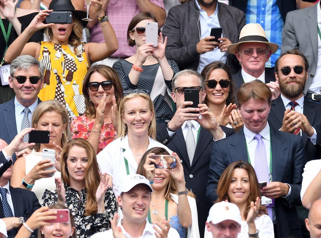 Michael Middleton,Carole Middleton, Pippa Middleton, James Middleton, Wimbledon
