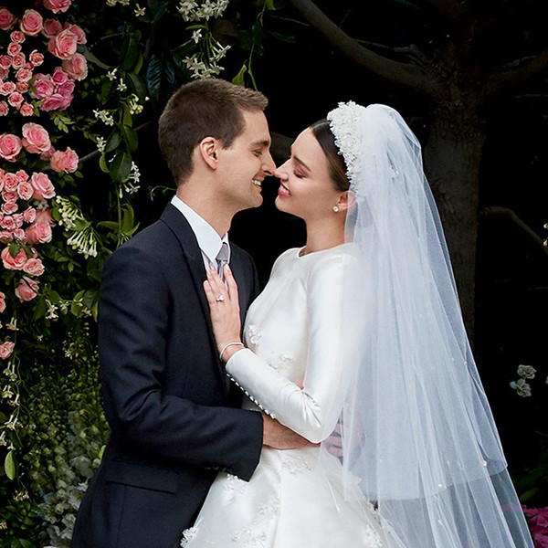 Miranda Kerr, Evan Spiegel, Wedding Dress
