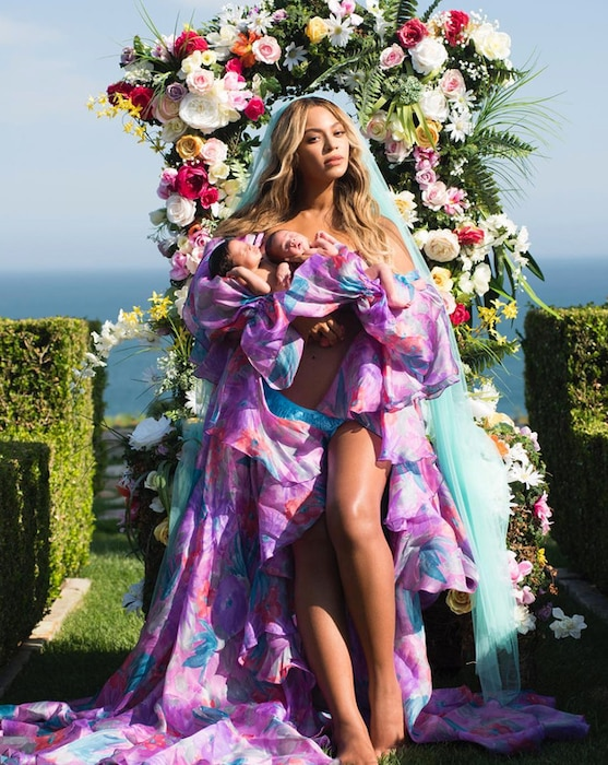 Beyonce, Sir Carter, Rumi Carter, Twins