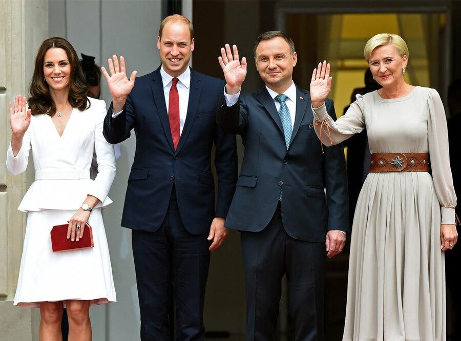 Kate Middleton, Duchess of Cambridge, Prince William, Duke of Cambridge, Andrzej Duda, Agata Kornhauser-Duda