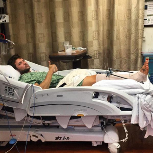 Ryan Phillippe, Leg Injury