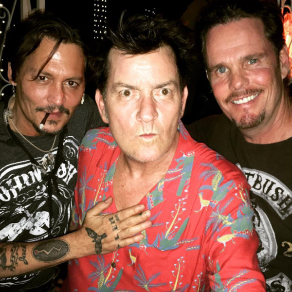 Johnny Depp, Charlie Sheen, Kevin Dillon