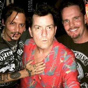 Johnny Depp, Charlie Sheen, Kevin Dillon