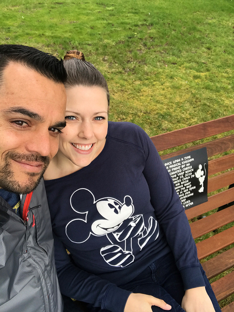 Disneyland Bench Couple