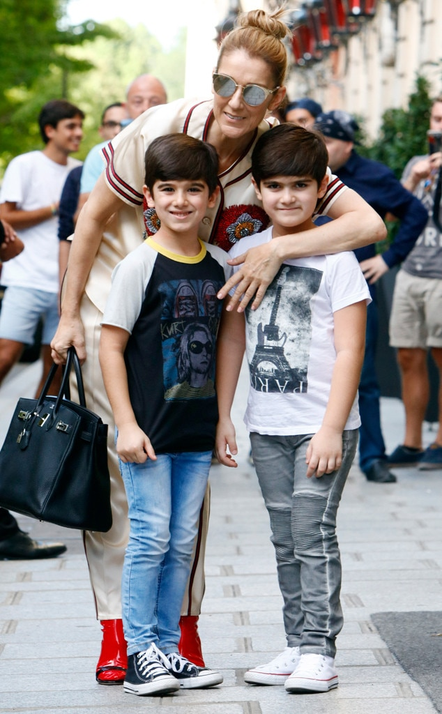 Céline Dion's 6-Year-Old Twins Look All Grown Up On Parisian Shopping Trip