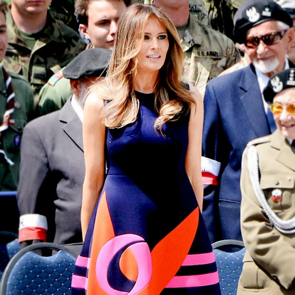 Melania Trump Stuns In Yellow Dior Gown At Her And Donald