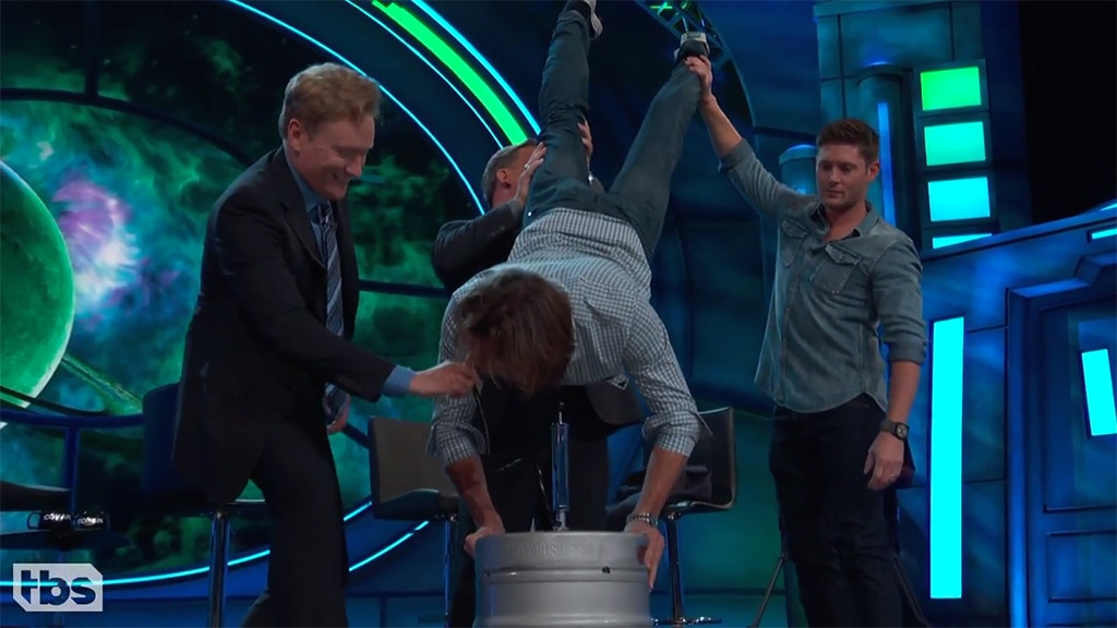 Jared Padalecki Does a Keg Stand for His Birthday!