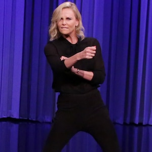 Charlize Theron, Jimmy Fallon, The Tonight Show