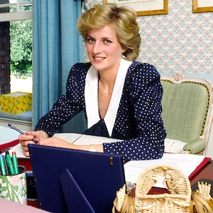 Princess Diana At Her Desk