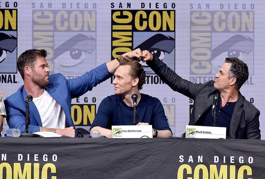 Chris Hemsworth, Tom Hiddleston, Mark Ruffalo, 2017 Comic-Con