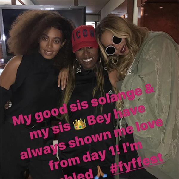 Beyonce, Solange, Missy Elliot