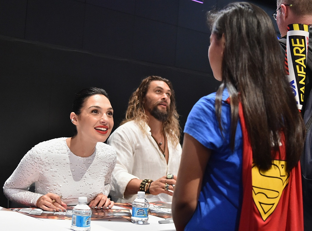 Gal Gadot Cheers Up Young Wonder Woman Fan at Comic-Con